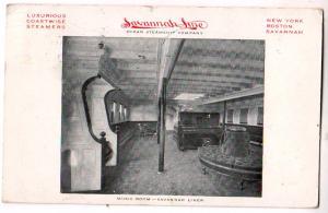 Interior, Savannah Line Ocean Steamship Co