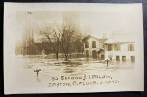 Mint USA RPPC Real Picture Postcard Dayton Ohio The Flood Second And Ludlow