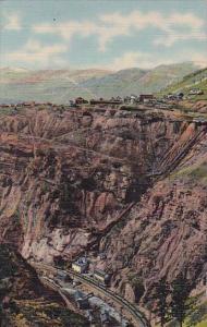 Eagle River Canon Empire Zinc Mine And Gilman As Seen From Battle Mountain Hi...