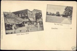 tanzania ZANZIBAR, Native Market Street, Golf Club 1900