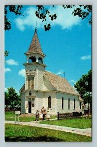 Minden NE- Nebraska, Old Lutheran Church, Pioneer Village, Chrome Postcard