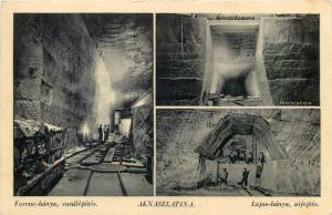 Ukraine Aknaszlatina Slatina Ucraina Ferencbanya & Lajosbanya salt mine 1940