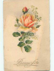 Very Old Foreign Postcard BEAUTIFUL FLOWERS SCENE AA4693