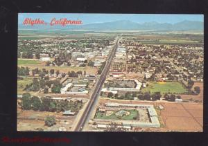 BLYTHE CALIFORNIA ROUTE 66 AERIAL VIEW VINTAGE POSTCARD