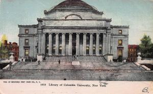 Library of Columbia University, New York, N.Y., Early Postcard, Used in 1905