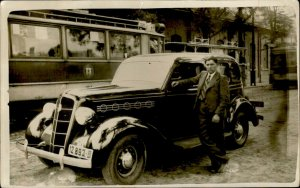 IMV00936 tram  romania real photo old car social history