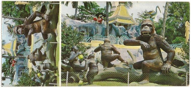 Singapore Haw Par Villa vintage postcard with couterfoil attached 4