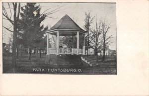 Huntsburg Ohio birds eye view house in the park antique pc ZE686103