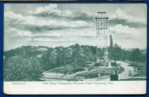General Bragg's Headquarters Missionary Chattanooga Tennessee tn old Postcard