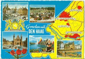 Netherlands, Groeten uit Den Haag, 1969 used Postcard