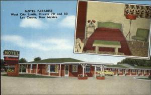 Las Cruces NM Motel Paradise LINEN Postcard