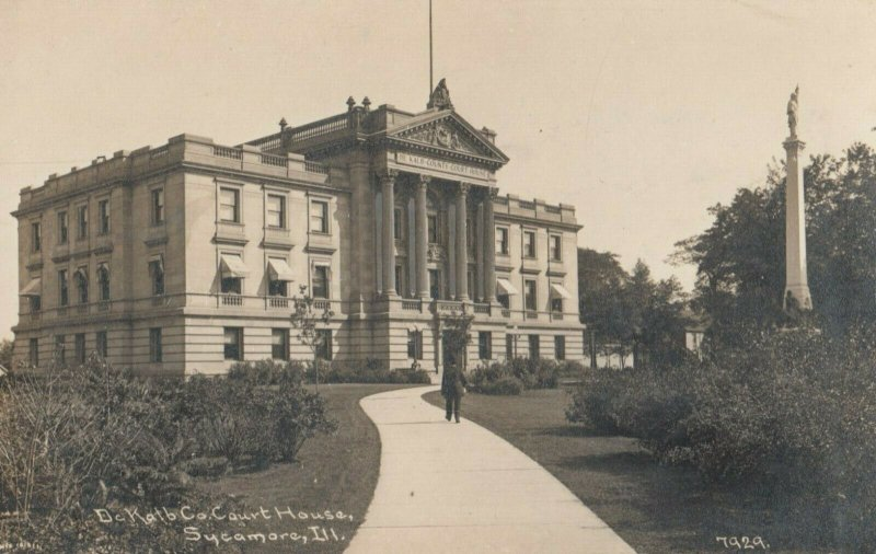 RP: SYCAMORE , Illinois, 1900-10s ; Court House ; C.R.CHILDS