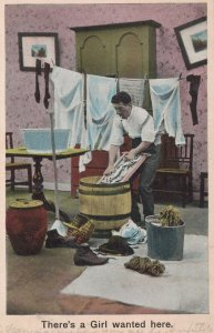 Bamfort & Co. there's a Girl Wanted here vintage postcard