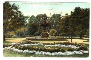Jubilee Fountain, Public Gardens, Halifax, Nova Scotia, Used 1909