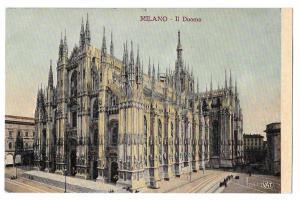 Italy Milano Duomo Milan Cathedral 1908 Vintage Postcard