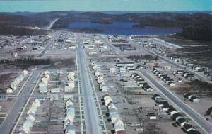 CHIBOUGAMAU,Quebec, Canada,  A bird's eye view, 40-60s