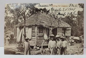 Nassau, Bahamas, Waiting for Coppers Early Postcard B14