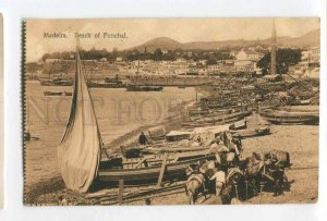287251 PORTUGAL MADEIRA beach of Funchal Miless Carmo Hotel to Russia RPPC