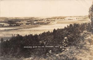 Traverse (City) Michigan~Boardman River Valley~Farms, Fields, Forest~RPPC 1909