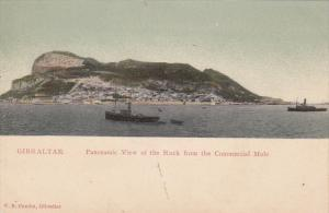 Panoramic View Of The Rock From The Commercial Mole, GIBRALTAR, 1900-1910s