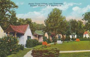 Missouri Branson Anchor Travel Village On Lake Taneycomo Curteich