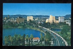 Los Angeles, California/CA Postcard, Wilshire Boulevard, MacArthur Park