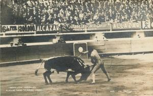 Eltoreo MX~Armillita Matando~Bullfight~Alcazar~Private Ambulances RPPC 1928