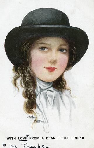 Greeting - With love from a dear little friend - Artist Signed: Arthur Butcher