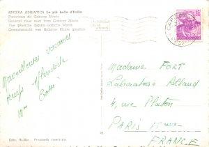Postcard Modern RIVIERA ADRIATICA The pi� bella d'Italia Panorama da Gabicc...