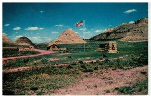 Postcard - Entrance To Theodore Roosevelt National Park, North Dakota Badlands