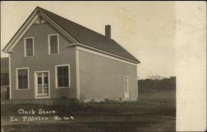 East Pittson MT Clark Store c1910 Real Photo Postcard