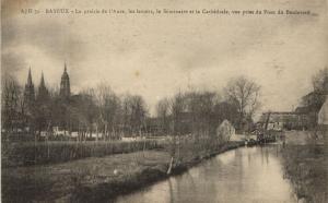 CPA BAYEUX - La prairie de l'Aure les lavoirs (141067)
