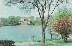 Vintage Postcard, Fine Arts Garden Lagoon, Cleveland, Ohio