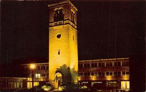 Madison~University of Wisconsin~Carillon Bell Tower~Night Lights~1963 Postcard