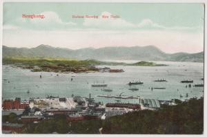 Hong Kong (China) Harbour showing New Docks ca. 1910