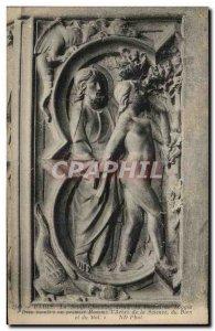 Old Postcard Paris La Sainte Chapelle Detail From portrait Loggia