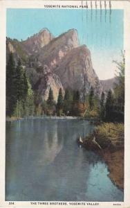 Three Brothers Yosemite Valley Yosemite National Park CA California pm 1927 WB