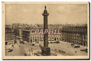 Old Postcard Paris Place and Vendome Column