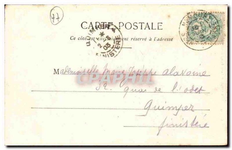 Nemours - The castle - Old Postcard