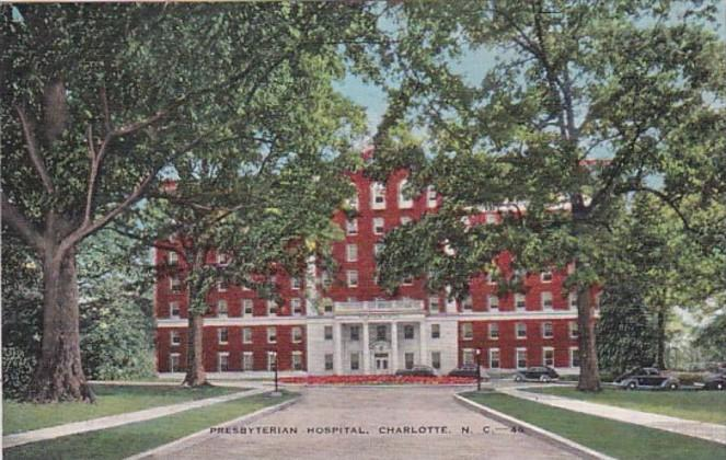 North Carolina Charlotte Presbyterian Hospital 1943