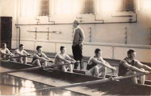 Rowers Practicing Sports Real Photo Antique Postcard J49243