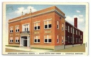 Spencerian Commercial School, Louisville, KY Postcard *7C(2)1