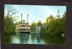 CA Disneyland Sternwheeler Ship Amusement Park  Anaheim California Postcard