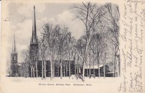 Winter Scene , Military Park , COLDWATER , Michigan , PU-1906