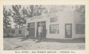 TENNENT , New Jersey, 1930-40s ; Bill McGee Gas Station