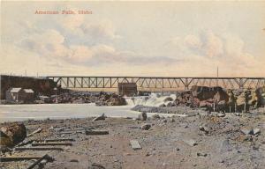 1907-1915 Chromolitho Postcard; American Falls Trestle Bridge ID Power County