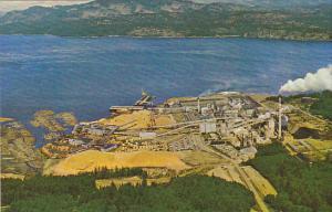 Canada Elk Falls Paper Mill and Sawmill Campbell River Vancouver Island Briti...