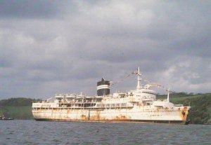 S.S. Triton on last Voyage , St Vincent , 1952