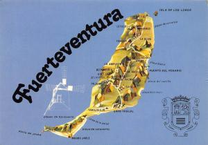 Fuerteventura Plan de L'Ile Plan of the Island Map