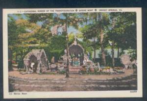 Virginia postcard Transfiguration Shrine Orkney Springs